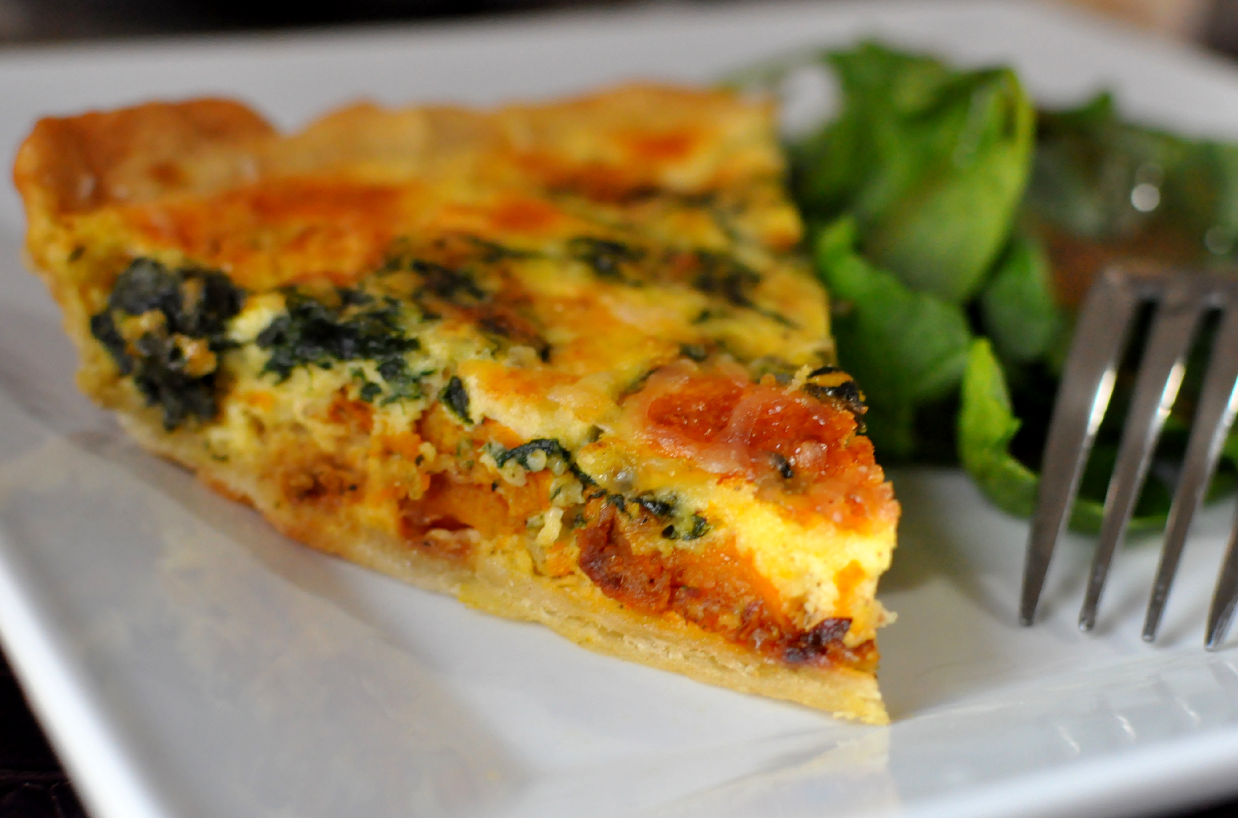 Roasted Butternut Squash and Spinach Quiche Eat This!